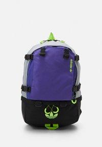 halo silver/purple/signal green
