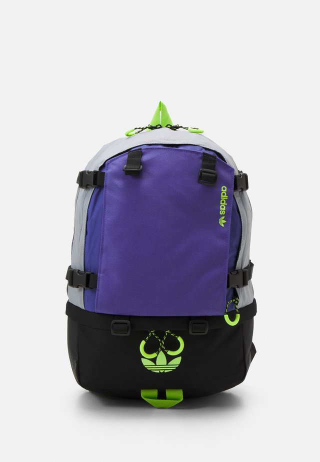 BACKPACK UNISEX - Rucksack - halo silver/purple/signal green