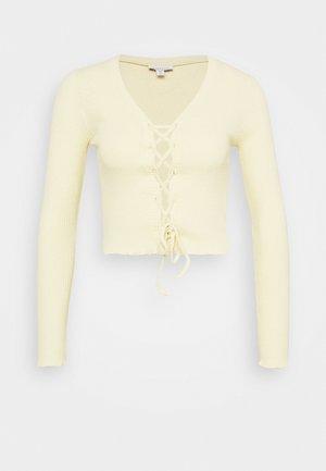 TIE UP CARDI - Långärmad tröja - yellow