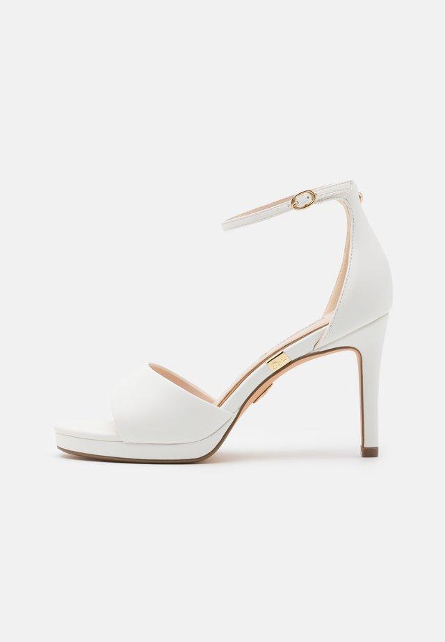 RONJA - Platform sandals - white
