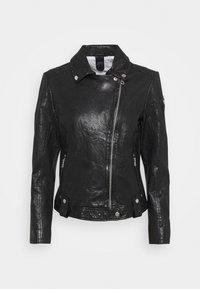 Gipsy - Kožená bunda - black - 5
