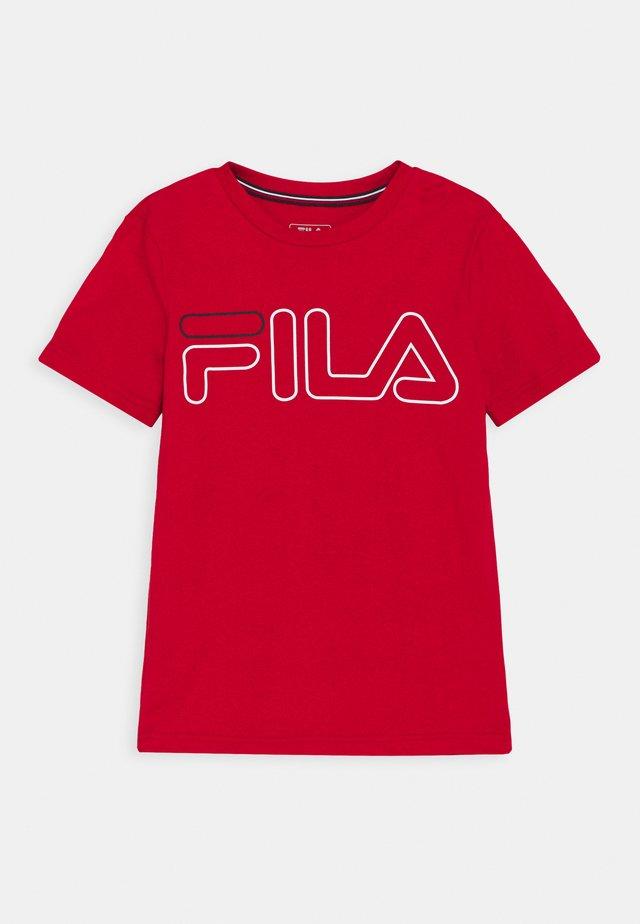 RICKI KIDS UNISEX - T-shirt imprimé - red
