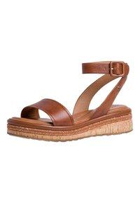 Tamaris - Platform sandals - nut leather - 1