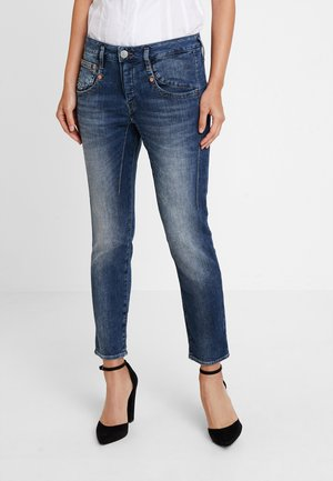 SHYRA CROPPED - Džíny Slim Fit - dark blue denim