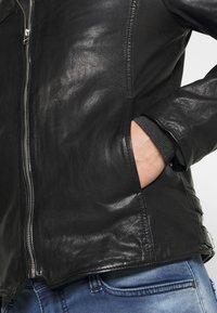 Goosecraft - MADRID BIKER - Leather jacket - black - 4