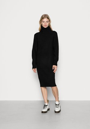 VMVILLA COWLNECK DRESS - Strikket kjole - black