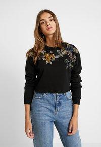 Topshop - FLOWER - Sweatshirt - black - 0