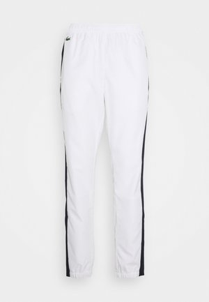 TENNIS PANT - Verryttelyhousut - white/navy blue