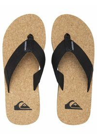 Quiksilver - MOLOKAI ABYSS NATURAL - T-bar sandals - black/brown/brown - 1