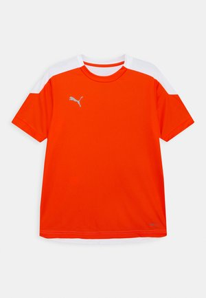 FTBLNXT UNISEX - T-shirt z nadrukiem - shocking orange/white