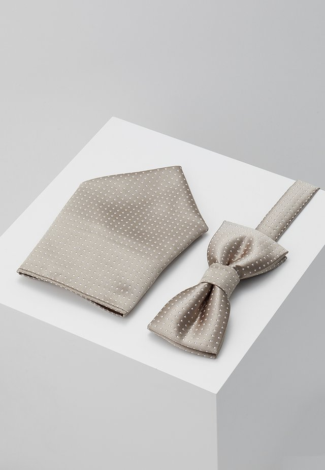 ONSTBOX THEO TIE SET - Pocket square - fallen rock