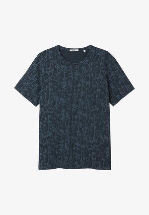BAMBOO - T-shirt med print - blue