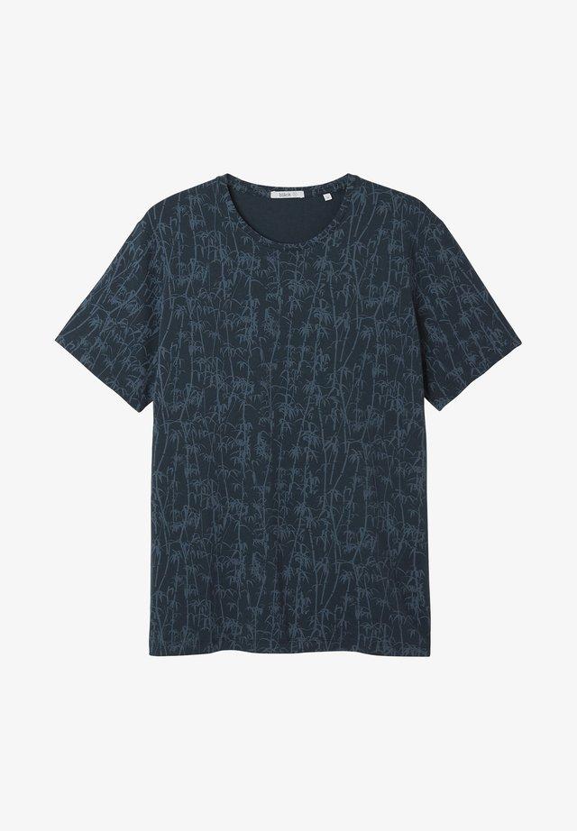BAMBOO - T-shirt print - blue