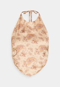 Missguided Tall - HALTERNECK HANKY BANDANA PRINT - Top - light brown - 0