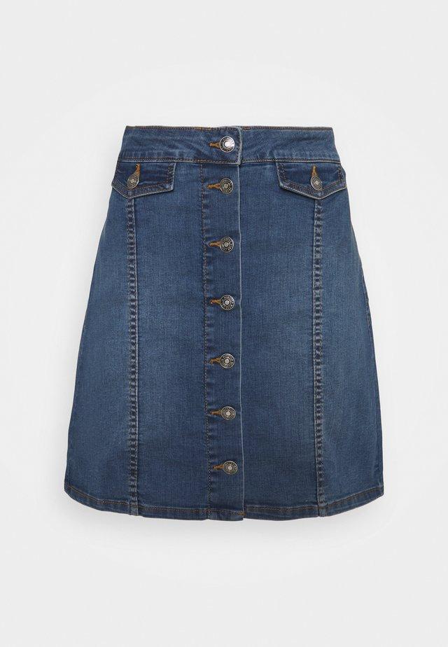 BYKISHA SKIRT - Jupe en jean - mid blue denim