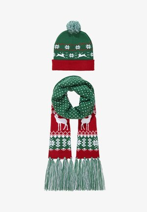 CHRISTMAS SET - Scarf - green/red
