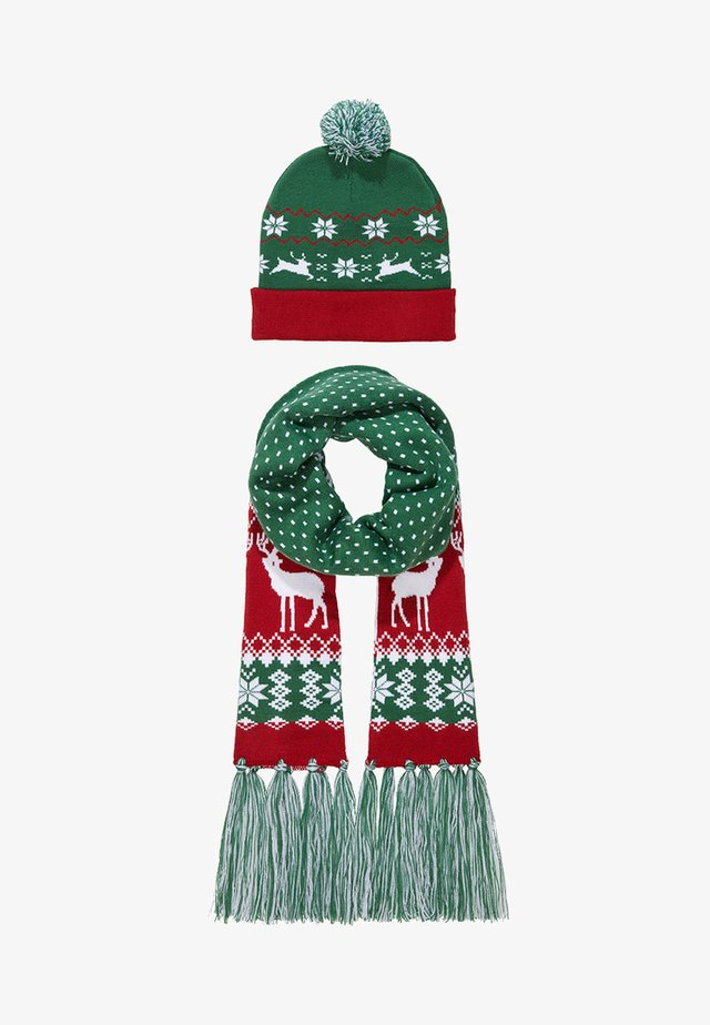 CHRISTMAS SET - Écharpe - green/red
