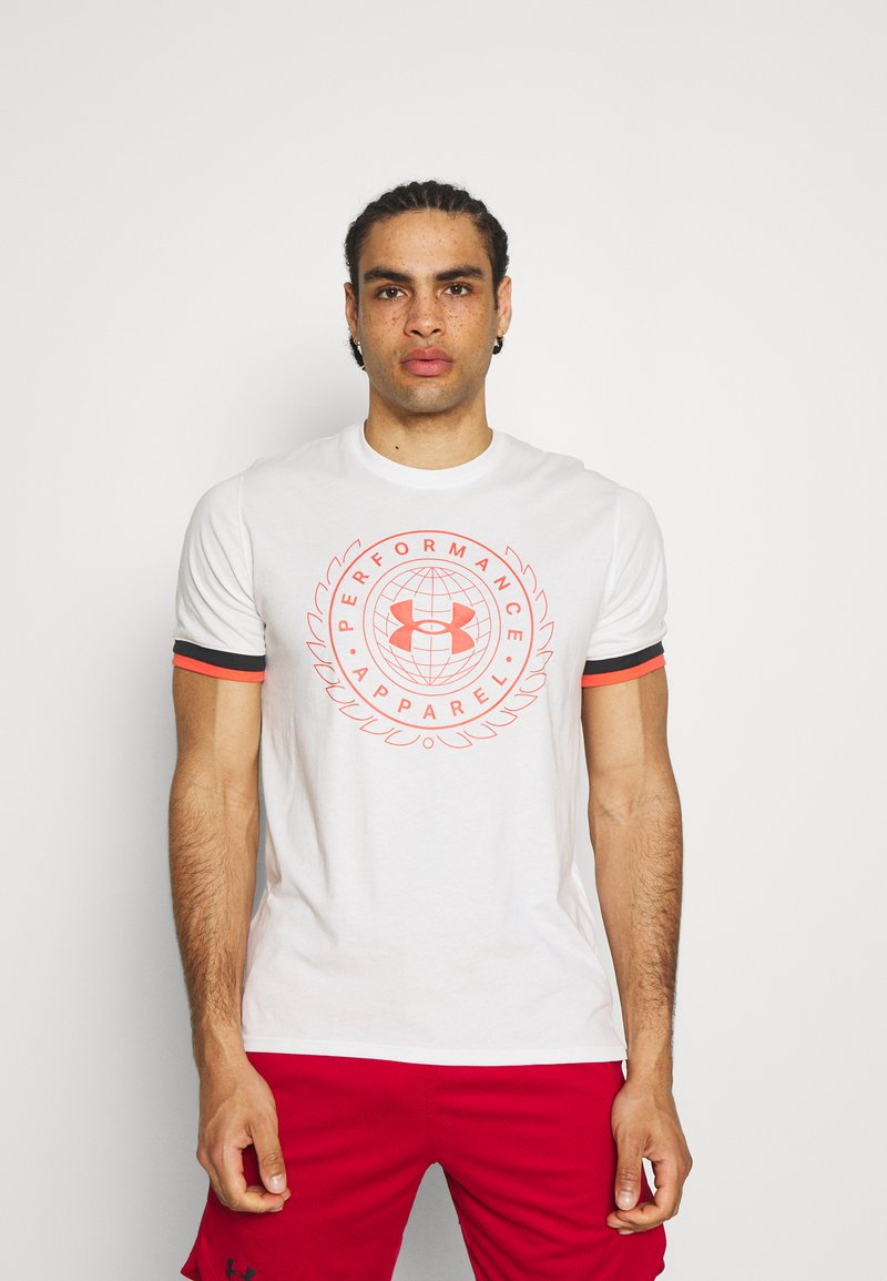 Under Armour - CREST  - Print T-shirt - onyx white