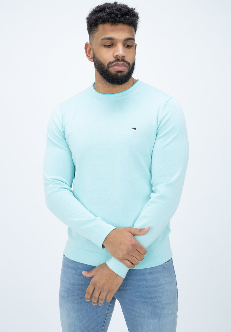 Tommy Hilfiger - TIPPED DOUBLE FACE - Jumper - oxygen