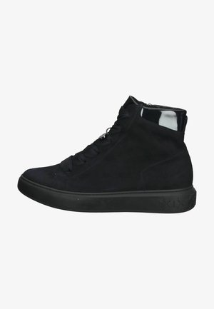 Sneakersy wysokie - navy suede notte  lack