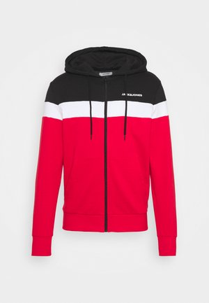 JJSHAKE ZIP HOOD - Felpa aperta - true red