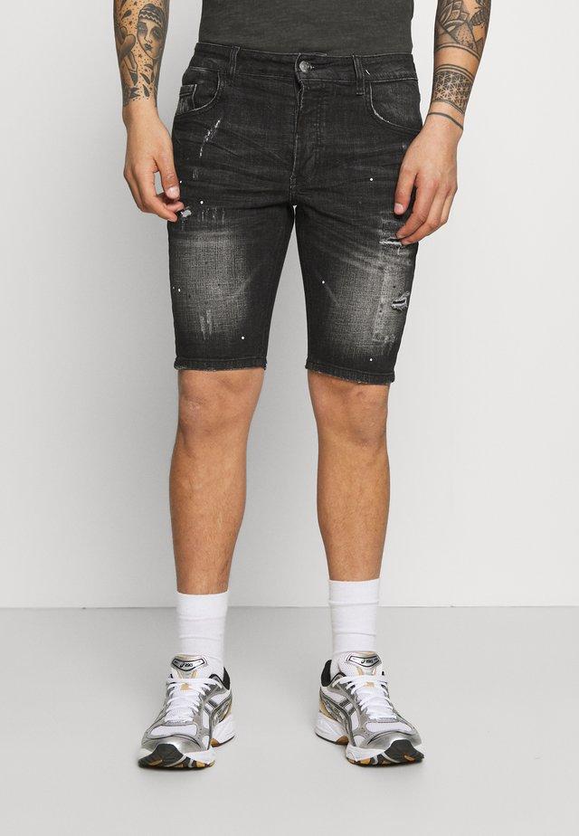 MARCIANO - Short en jean - black wash