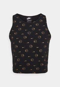 Nike Sportswear - TANK - Top - black/metallic gold - 4