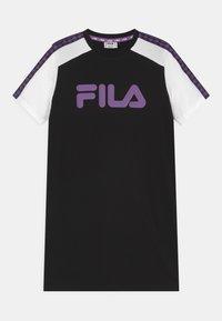 Fila - LEAH TAPED TEE - Vestito di maglina - black/bright white - 0