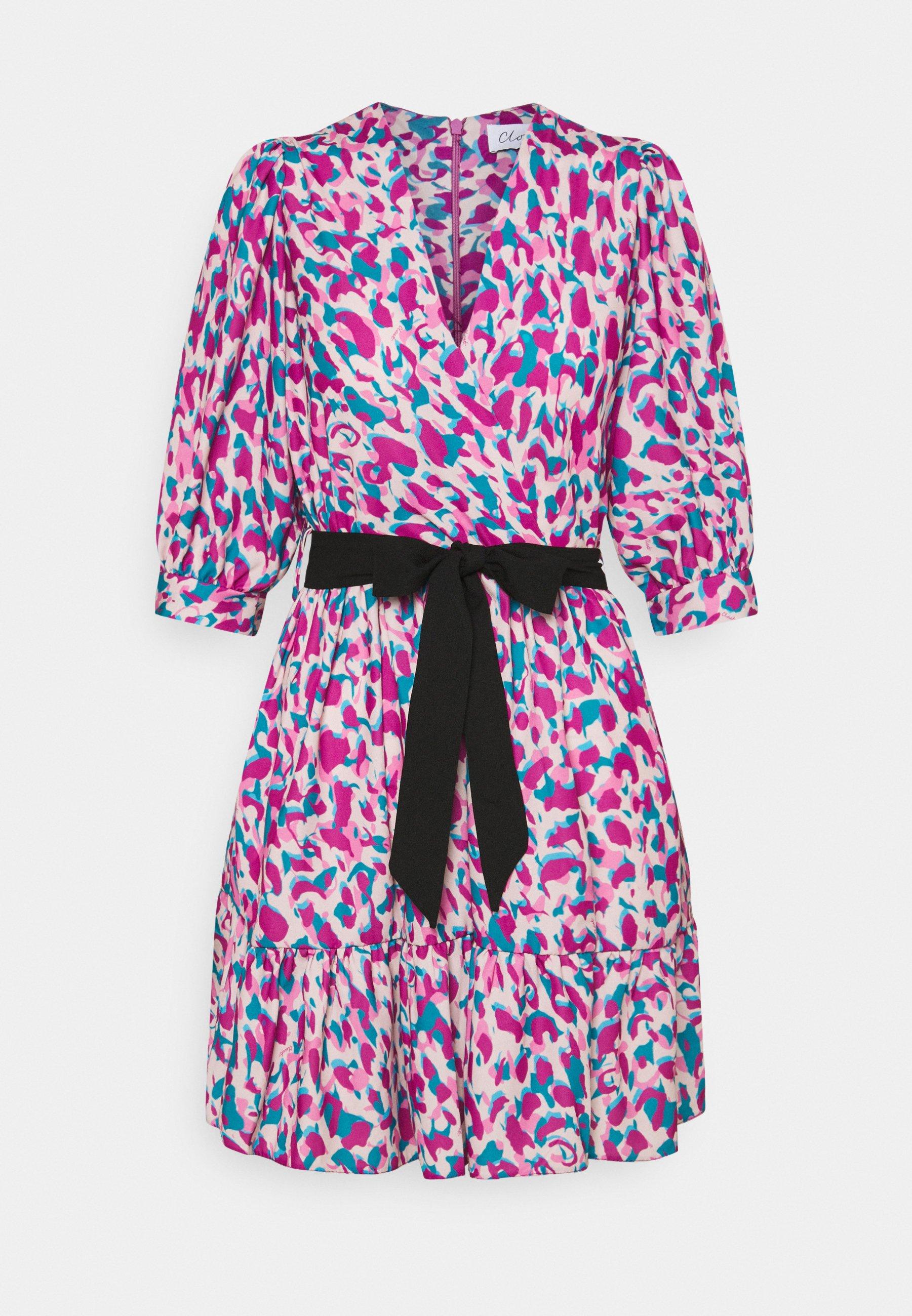 Women WRAP GATHERED SKIRT DRESS - Day dress