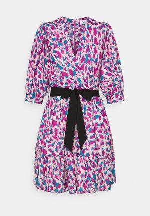 WRAP GATHERED SKIRT DRESS - Vestito estivo - purple
