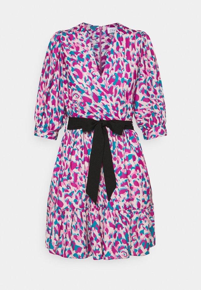 WRAP GATHERED SKIRT DRESS - Day dress - purple