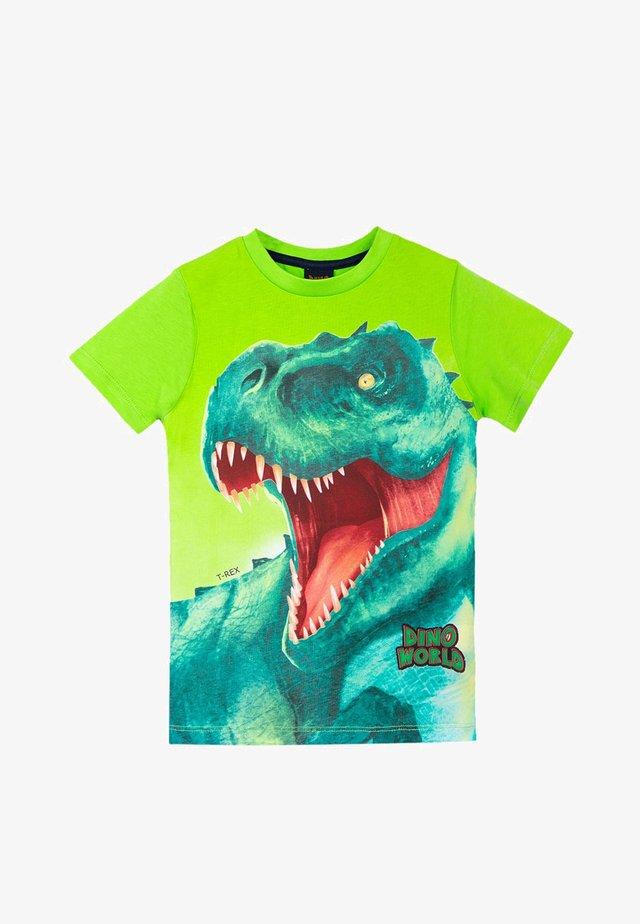 DINO WORLD - Print T-shirt - jasmine green