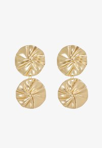 ERASE - ORGANIC DOUBLE CIRCLE DROP EARRINGS - Pendientes - gold-coloured - 3