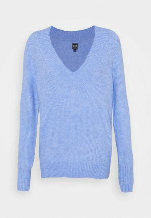 ULTRA WIDE VNECK - Jumper - blue cloud