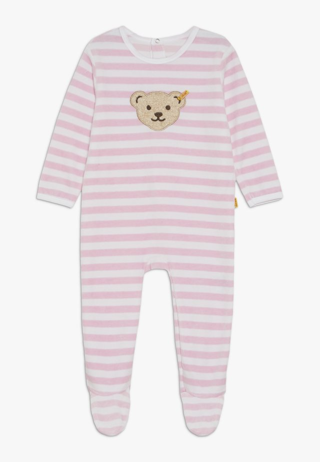 STRIPE SLEEPSUIT BABY - Pyjama - barely pink