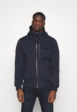 UTILITY HOODED - Soft shell jacket - mazarine blue/dark black