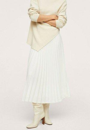 MIDI PLISADA - A-line skirt - crudo