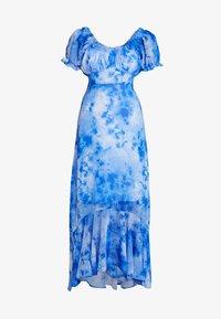 NA-KD - TIE DYE PUFF SLEEVE DRESS - Maxi dress - blue