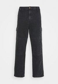 Carhartt WIP - KEYTO PANT DEARBORN - Cargo trousers - black - 0