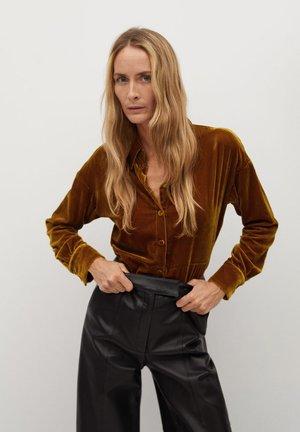 VELVY-I - Button-down blouse - mostaza