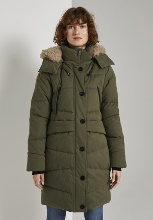 Winter coat - olive night green