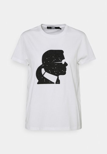 BOUCLE KARL PROFILE  - Print T-shirt - white