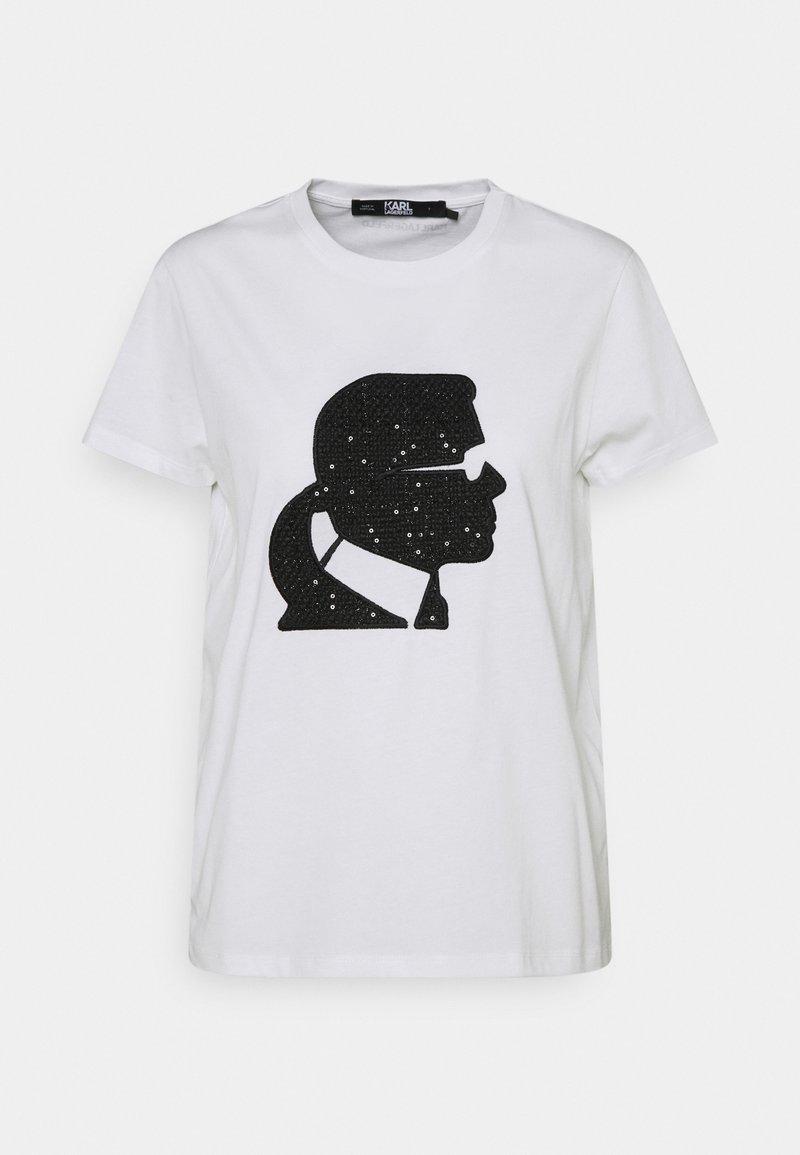 KARL LAGERFELD - BOUCLE KARL PROFILE  - T-Shirt print - white