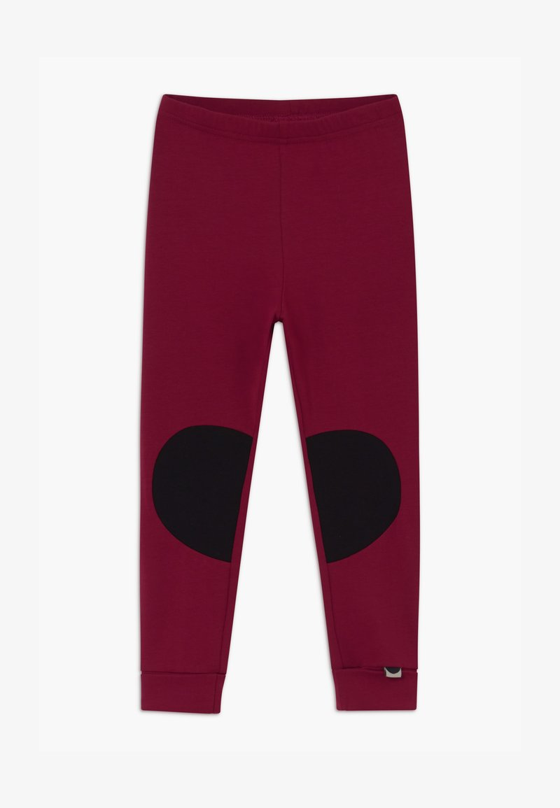 Papu - PATCH UNISEX - Leggings - Trousers - deep red