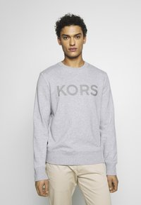 Michael Kors - GARMENT DYE LOGO - Felpa - heather grey - 0