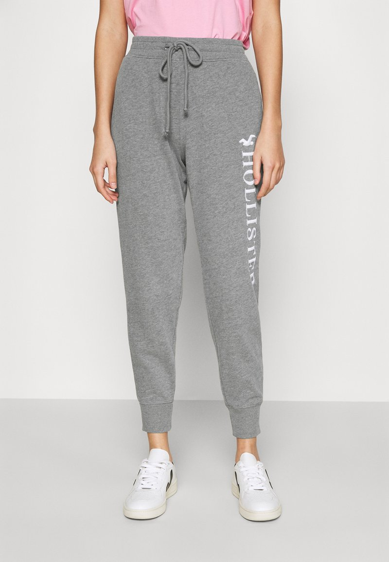 Hollister Co. - TIMELESS LOGO JOGGER - Joggebukse - grey