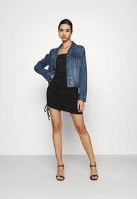 Even&Odd - Drawcord basic mini skirt - Pencil skirt - black - 1