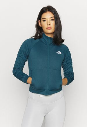 FULL ZIP JACKET - Fleece jacket - mallard blue