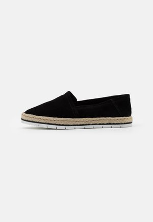 LEATHER - Espadryle - black