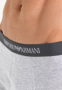 Emporio Armani - TRUNK 3 PACK - Panties - white/heather gray/navy blue - 5